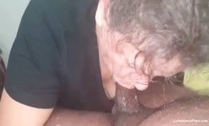 White granny taking a bbc and creampie