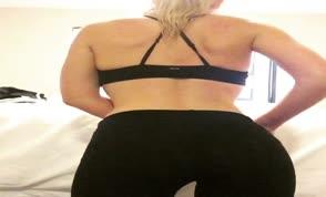 Beautiful blonde teasing us