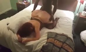 Mommy cheating in a hotel room