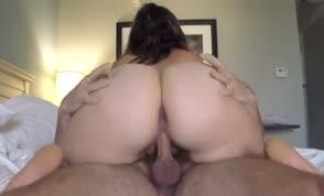 Girl with big ass rides dick