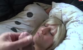 Napping facial hot blonde
